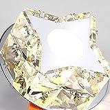 CozyFoci 096YMJ Chrome Flush Mount Luxury Modern LED Ceiling Light K9 Crystal Twinkle Star Corridor Bathroom Cloak Room