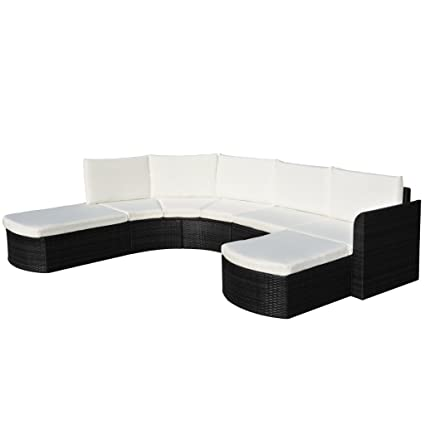 Amazon.com : Festnight 16 Piece Outdoor Patio Garden Furniture Poly ...