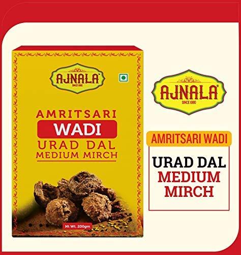 Amazon price history for Ajnala Amritsari Urad & Moong Dal Wadiya's, 200 GMS (Urad Dal Medium Mirch Wadi)