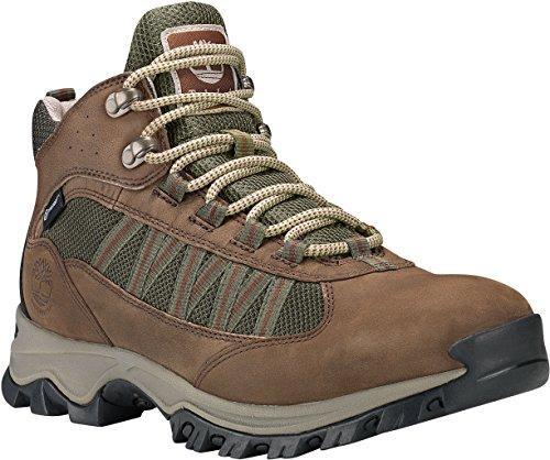Timberland A1L3X Men's MT. Maddsen Lite Mid Waterproof Hiking Boots, Dark Brown Full-Grain - 9.5 M