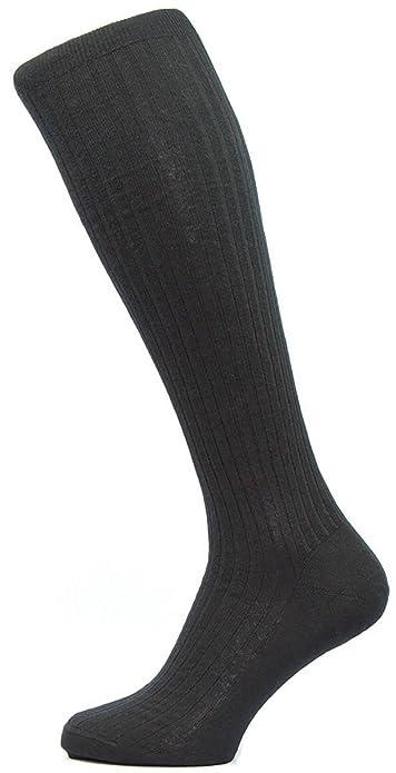 Negro Kangley Costilla Con los calcetines de lana Merino Becerro - Grande de Pantherella: Amazon.es: Zapatos y complementos