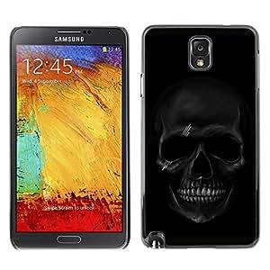 YiPhone /// Prima de resorte delgada de la cubierta del caso de Shell Armor - Black Skull; - Samsung Galaxy Note 3 N9000 N9002 N9005