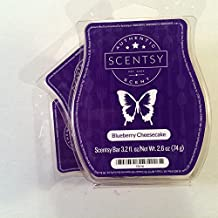 Scentsy Fragrance Blueberry Cheesecake, Wickless Candle Tart Warmer Wax 3.2 Oz Bar, 3-pack (3),white with a blue tint