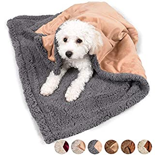 """Pawsse Dog Blanket,Super Soft Sherpa Pet Blankets and Throws Sleeping Mat for Small Medium Doggies Puppy Animals 45""""x30"""""""