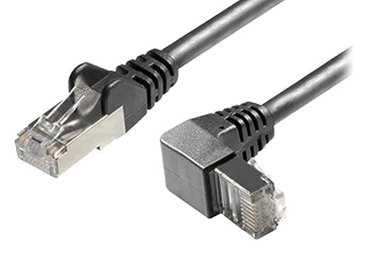 Sat-Fox - Cable de red RJ45 (cat. 6A, S/FTP, 1 m, conector recto a conector RJ45 en ángulo inferior): Amazon.es: Industria, empresas y ciencia