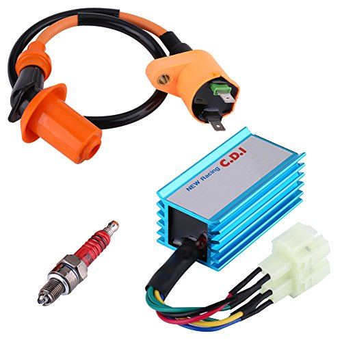 Ignition coil, 6 CDI needle suitable for GY6 50CC 125CC 150CC Spark Ignition Coil Scooter: