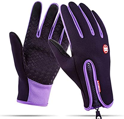 Fauhsto Cycling Gloves Unisex Winter Outdoor Windproof Work Gym Hiking Hunting Driving Riding Climbing Sport Smartphone Touchscreen Gloves for Gardening, Builders, Mechanic: Amazon.es: Deportes y aire libre