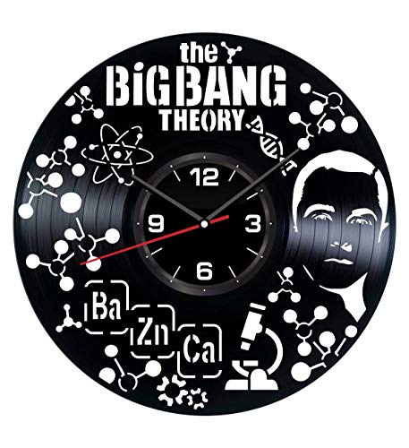 The Big Bang Theory Wall Clock Made of Vinyl Record - Stylish Clock and Amazing Gifts Ideas - Unique Home Decor - Personalized Presents for Men Women Kids - Great Wall Art Living Room Bedroom Kitchen