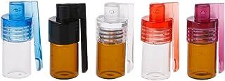 Tajie 36mm Petite Taille Distributeur De Tabac à Priser Portatif Snorter Rocket Forme Bouteille Acrylique Nasal Box