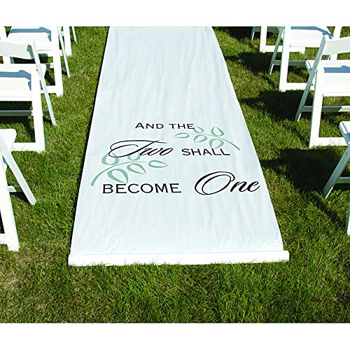 Hbh White 'Two Shall Become One' Aisle Runner Casual Modern Contemporary (And The Two Shall Become One Aisle Runner)