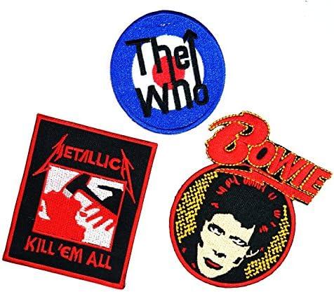 3 pcs Set Música Banda, The Who David Bowie Metallica Heavy Metal ...