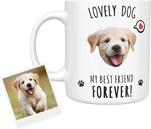 Personnalisé Café Thé Tasse vie est mieux avec un chien Tout Nom Chien Amoureux Cadeau