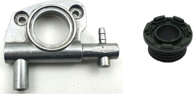 Bomba Aceite Cadena compatible + Tornillo Sin Fine Original eMac para motosierra Oleo Mac 936 940 947 952 Ed efcho 136 140 147 152 Oil pump| compatible con motosierras originales o Cloni