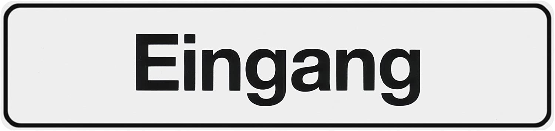 Metafranc Klebeschild Ausgang 200 x 48 mm T/ürschild Orientierung Gewerbekennzeichnung Infoschild 504130 Beschilderung Gr/&st/ückskennzeichnung