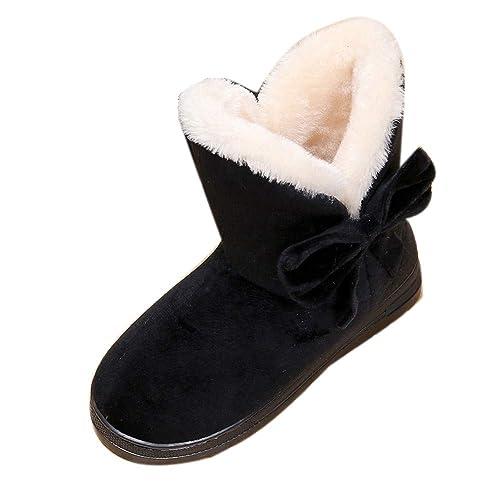 Moda Invierno Botas de Nieve Zapatillas de Estar por Casa Mujer Interior Caliente Suave Antideslizante Botas Casual Plataforma Casual Women Shoes Mantener ...