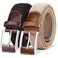Belt for Men,Woven Stretch Braided Belt 2...