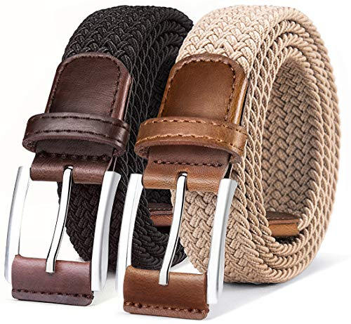 Belt for Men,Woven Stretch Braid...