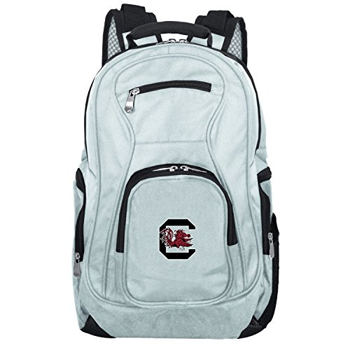 NCAA South Carolina Fighting Gamecocks Voyager Laptop Backpack, 19-inches, Grey