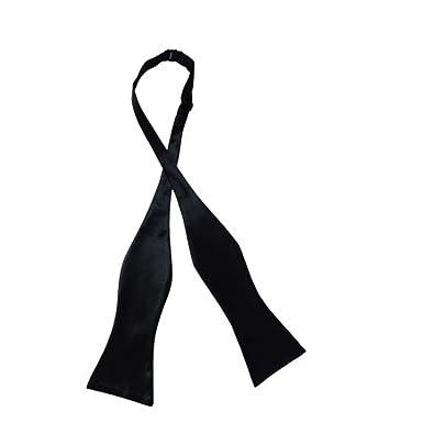 aced30fe4050 Eccellente Men's Satin Open and Self Bow Tie (Black): Amazon.in ...