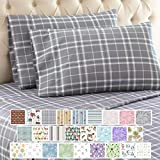 Thermee Micro Flannel Shavel Home Products Sheet Set, King, Fashion Plaid/Grey