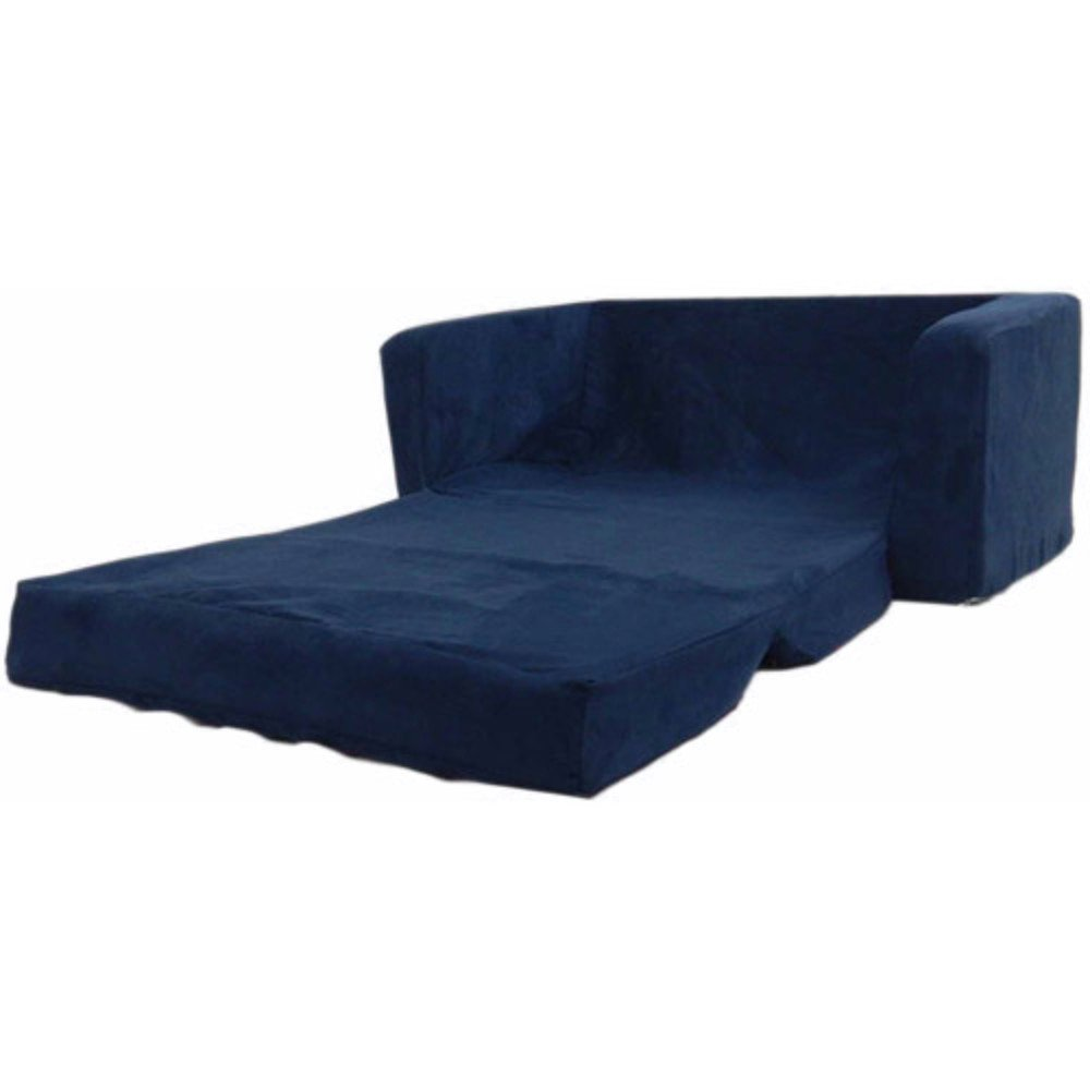 Flip Open Foam Sofa for Kids Room Recliner Sectional Sofa Sleeper Bed Reclining Modern Open Kid Friendly Small Sofa Folding Lounge Futon Furniture & E book by Easy2find. by STS SUPPLIES LTD