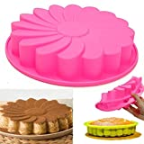 Floral Shape Silicone Cake Mold Dough Shaper Bread Pizza Mould Pan Home Kitchen Bakery Baking Tools Gadgets Bakeware Houseware