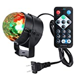 WEDNA LED Party Light Disco DJ Lights Rotating Ball Projection Lamps Sound Activated Mini Stage Party Lighting Dance Wedding Holiday lamp