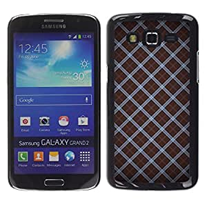 TopCaseStore / la caja del caucho duro de la cubierta de protección de la piel - Wallpaper Pattern Random Design Stripes - Samsung Galaxy Grand 2 SM-G7102 SM-G7105