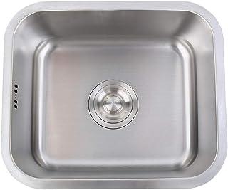 Iglobalbuy singolo lavello in acciaio INOX quadrato ciotola lavello