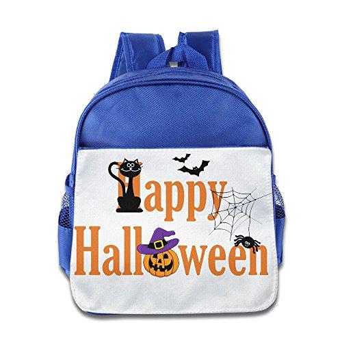 XJBD Custom Cool Halloween Kids Children School Bagpack For 1-6 Years Old RoyalBlue