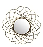 Privilege 16073 Iron Wall Mirror, Gold