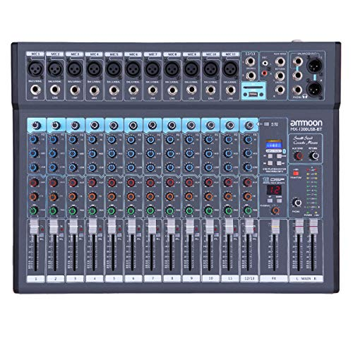 ammoon 12-Channel Mixing Console