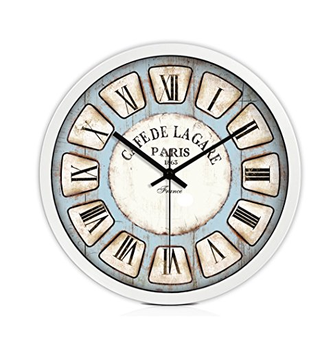 AODISHA Bar Silent Wall Clock, Bedroom Study Living Room The Mall Tea Shop Bookstore Stationery Shop Hotel Internet Cafes Wall Clock Metal Wall Clock 30-40CM -Take more decoration