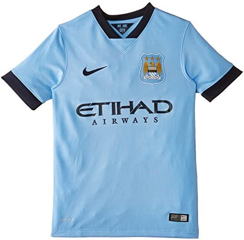 NIKE 611056-489-XS - Camiseta de equipación de fútbol para niño, Color Azul (Field Blue/Obsidian/Obsidian), Talla XS: Amazon.es: Ropa y accesorios