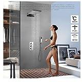 """Rozinsanitary Luxury 22"""" Waterfall Shower Head Thermostatic Valve Mixer Tap W/ Handhelf Shower"""