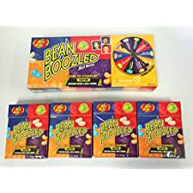 Jelly Belly 3.5 oz BeanBoozled Spinner Wheel Game Jelly Bean Gift Box with 4 - 1.6 oz BeanBoozled Jelly Bean Refills (Party Pack)
