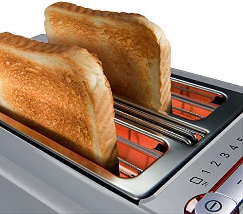Siemens TT86105 Toaster 860 Watt für 2 Scheiben Toast, wärmeisoliertes Gehäuse, urban grau