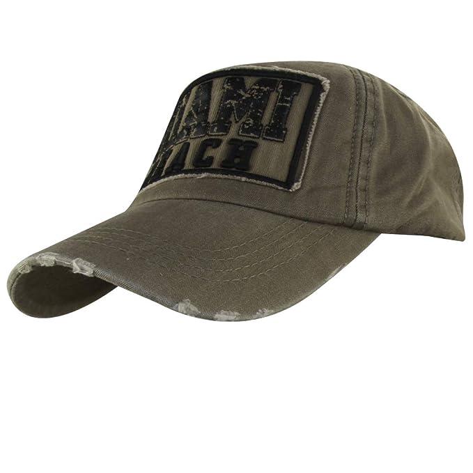 MINAKOLIFE Mens Distressed Vintage Denim Dry Baseball Snapback Trucker Hat  (Amrygreen 212) 77765daf36b
