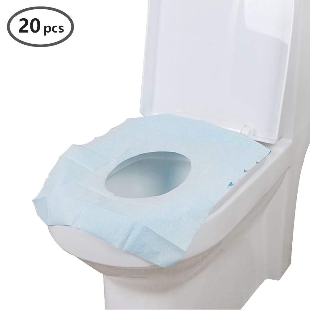 Portable Disposable Paper Toilet Seat Covers for Travel,Waterproof Antimicrobial Maternal Disposable Toilet mat - 18''L x 15''W (White20)