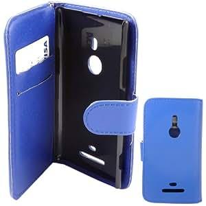 Credit Card Voltear Caso Cubrir Piel Para Nokia Lumia 925 / Blue