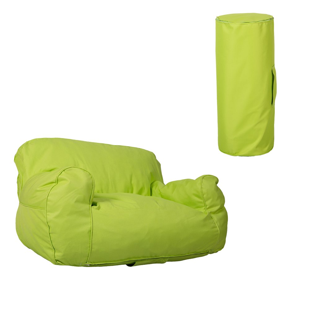 KARMAS PRODUCT Children Double Sofa Chair Home Furniture Comfort Lounger Bean Bag Kids Love Self-rebound Sponge Couch Seat Green