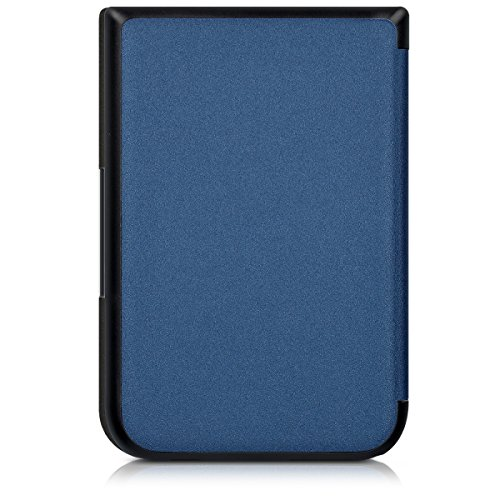 kwmobile Elegant synthetic leather case for the Pocketbook Touch HD/Touch HD 2 Butterfly Tendril in dark blue by kwmobile (Image #3)