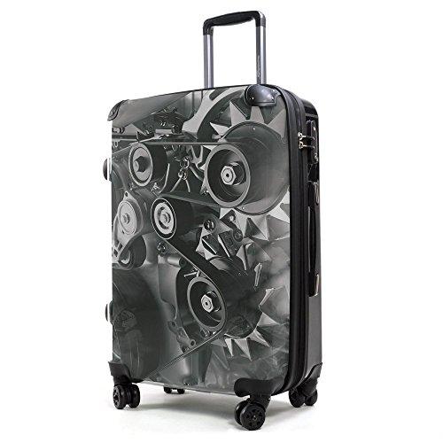 HAUPTSTADTKOFFER® 40 Liter (ca. 55 x 35 x 24 cm) · Handgepäck · Modell: STYLE · TSA Schloss · ZAHNRAD + Kofferanhänger