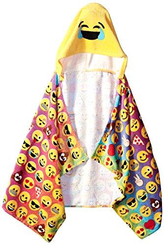 Emoji Pals Rainbow Hooded Towel, Multicolor by Emoji Pals