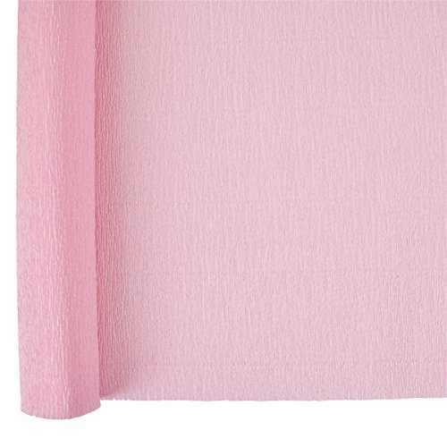 Just Artifacts Crepe Paper Roll - 8ft Length/20in Width - Color: Carnation Pink - Premium Quality Crepe Paper for DIY and Craft (Brown Streamer)