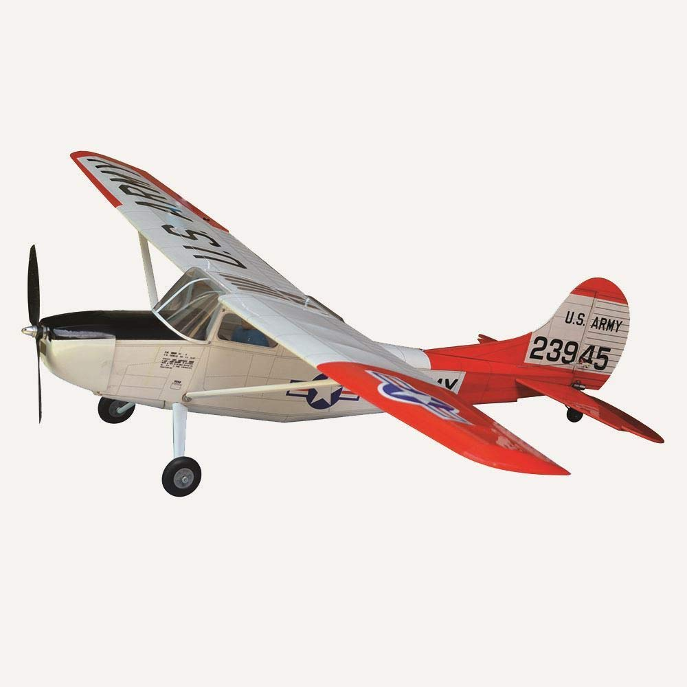 VMAR Cessna L-19Birddog US Army 49 inches Electric Plane Kit (White-Red)