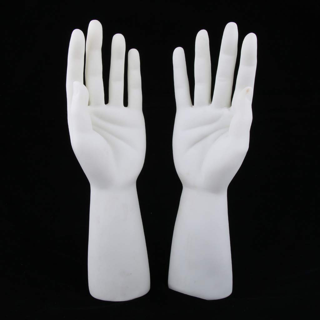 Tubayia 1 Paire Hommes Mannequin Main Mod/èle Bijoux Display Support pour Montres Bagues Gants Affichage
