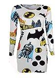 Crazy Girls Ladies Batman Print Comic Book Bodycon Mini Dress