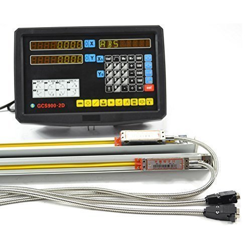 Taishi 2 Axis Digital Readout DRO for Milling Lathe Machine with Precision Linear Scale