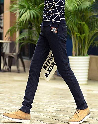 In Denim Jeans Per inverno Pantaloni Il Libero Slim Stretch Estilo Autunno Uomo Fit Da Nero Tempo Especial Termici ECqvIInwX